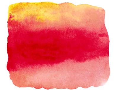 Photo pour Watercolor brushstroke in autumn color isolated on white bakground. - image libre de droit