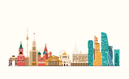 graphics, flat city illustration
