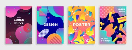 Photo pour Modern abstract covers set. - image libre de droit