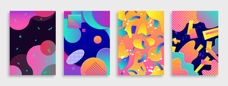 Ilustración de Colored Modern abstract covers set. Vector illustration. - Imagen libre de derechos