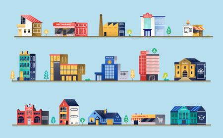 Foto de Set of city buildings. - Imagen libre de derechos