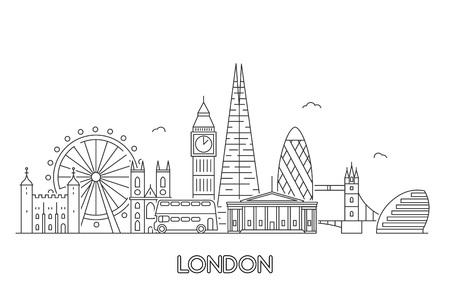 Illustration pour London city skyline. - image libre de droit