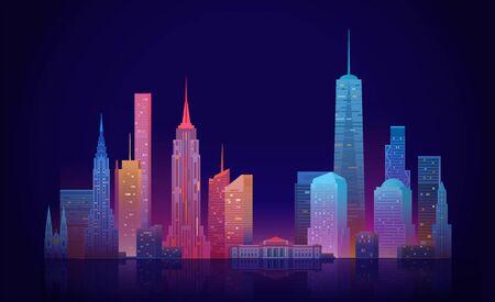 Illustration pour New York skyline - image libre de droit
