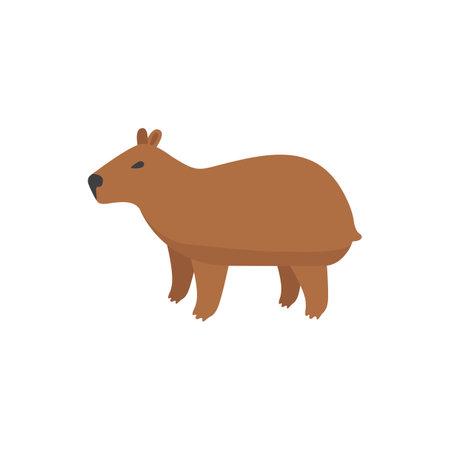 Illustration pour Cute capybara. Vector illustration - image libre de droit