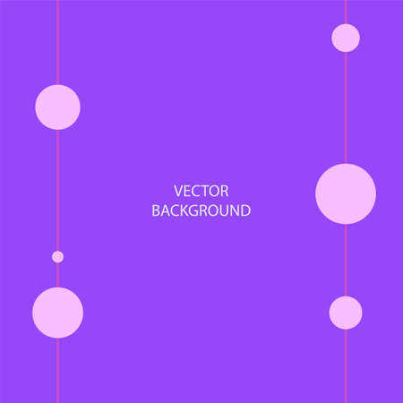 Vector graphic background in purple tones. Bright and stylish screensaver with geometric shapes and space for text. Futuristic trending postcard design.