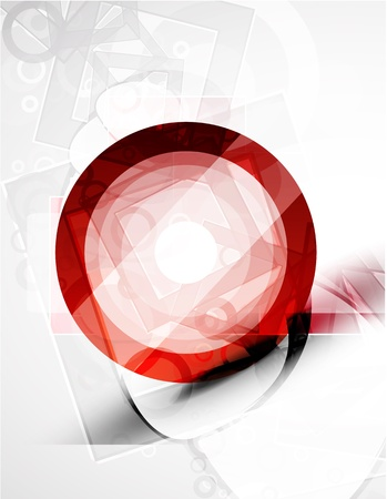 Abstract techno circle vector background