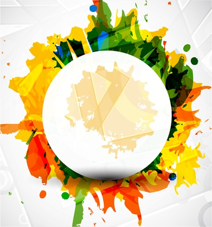 Illustration for Abstract colorful shapes background - Royalty Free Image