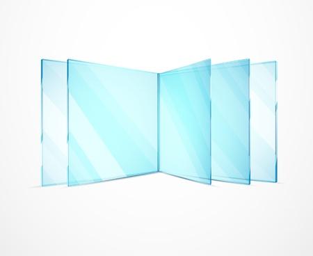Illustration pour Vector glass plates - image libre de droit