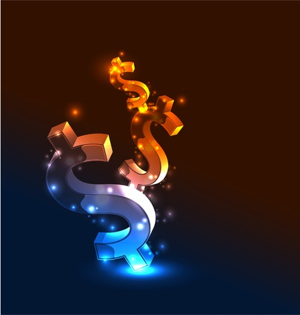Vector abstract glowing money concept background