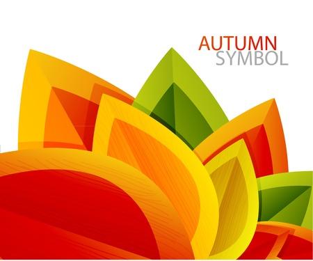 Photo pour Vector abstract autumn leaf background - image libre de droit