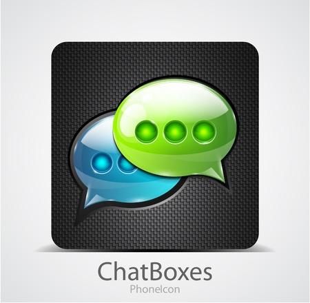 Illustration pour Vector chat boxes phone icon - image libre de droit
