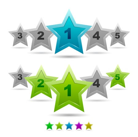 Star rating vector icons