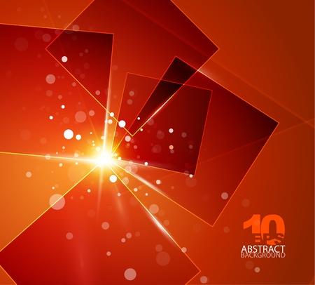 Orange shiny abstract background