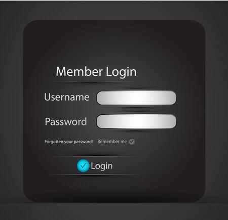 Illustration pour Vector login page - image libre de droit