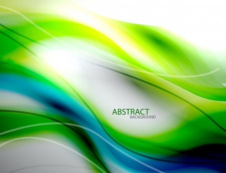 Photo for Blurred abstract blue green wave background - Royalty Free Image