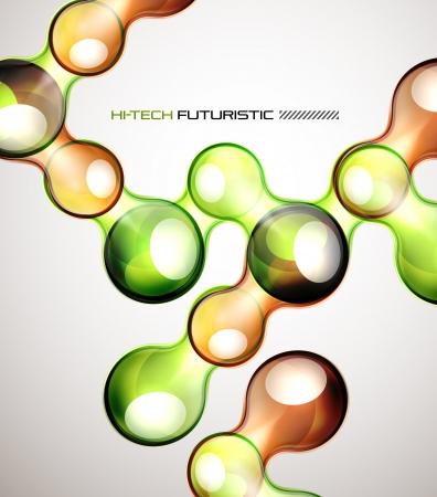 Techno bubble background
