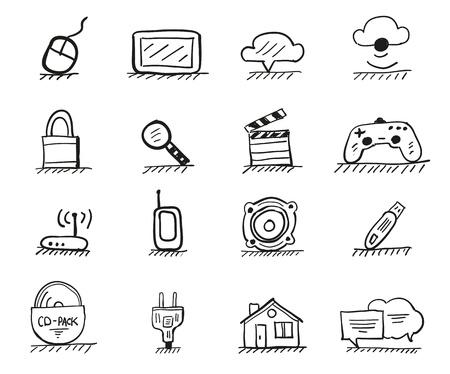 Web hand drawn icons
