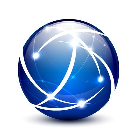 Illustration for Communication globe icon concept - Royalty Free Image