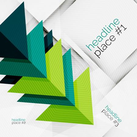 Business futuristic triangle composition
