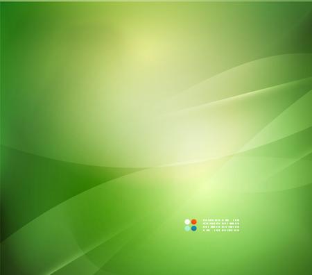 Illustration pour Fresh green blur wave and colors - image libre de droit