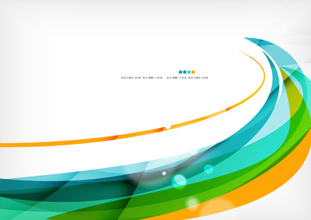Illustration pour Green orange yellow colors shiny line concept - image libre de droit