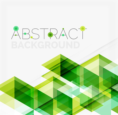 Ilustración de Abstract geometric background. Modern overlapping triangles. Unusual color shapes for your message. Business or tech presentation, app cover template - Imagen libre de derechos