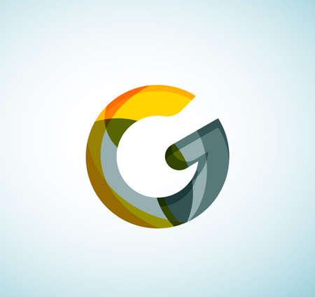 Vector alphabet letter . Created with transparent colorful overlapping geometric shapes, waves and flowing shapes