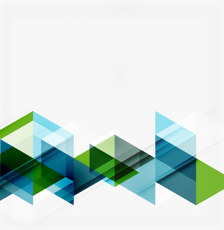 Foto de Abstract geometric background. Modern overlapping triangles. Unusual color shapes for your message. Business or tech presentation, app cover template - Imagen libre de derechos