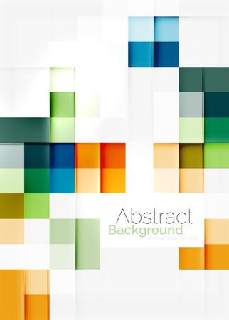 Illustration pour Square shape mosaic pattern design. - image libre de droit
