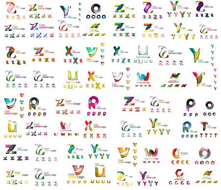 Mega set of geomeric company icon. Corporate business branding design elements