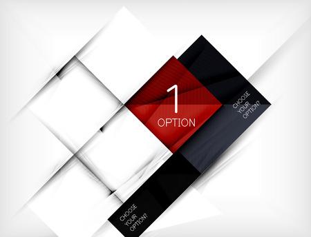 Illustration pour Paper square shapes banner. Vector - image libre de droit