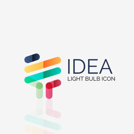 Illustration pour Logo, vector light bulb abstract linear geometric business icon. Fresh modern idea concept - image libre de droit