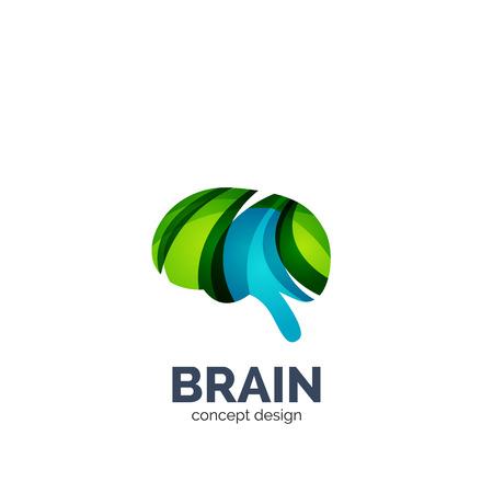 Illustration pour Vector brain  template, elegant geometric design - image libre de droit