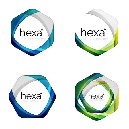Illustration pour Hexagon vector logo icon templates - image libre de droit