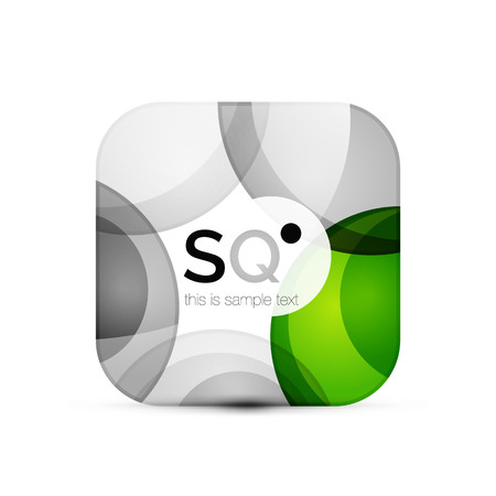 Square geometric abstract business emblem vector.