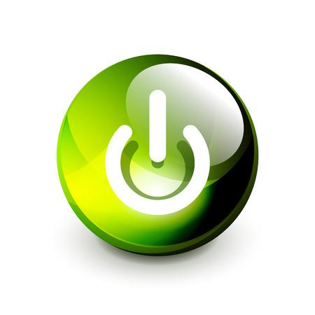 Illustration pour Power button icon, start symbol, vector illustration - image libre de droit