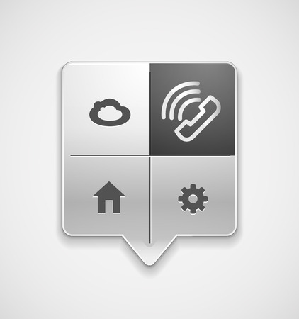 Vector phone support web button