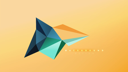 Illustration pour Abstract background - geometric origami style shape composition, triangular low poly design concept. Colorful trendy minimalistic vector illustration - image libre de droit