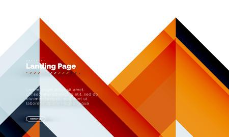 Illustration pour Square shape geometric abstract background, landing page web design template. Vector illustration - image libre de droit