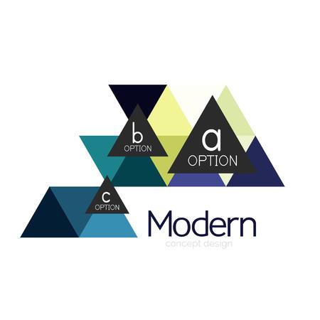 Illustration for Triangle shape design abstract business logo icon design. Company logotype branding emblem idea - Royalty Free Image