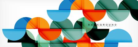 Illustration pour Circle modern geometrical abstract background, vector illustration - image libre de droit