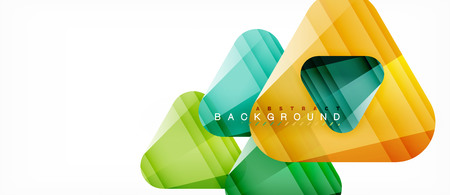Illustration pour Geometric abstract background, triangles - image libre de droit