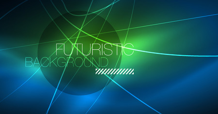 Photo pour Neon glowing magic background, neon banner, night sky wallpaper. Magic light vector effect. Christmas abstract pattern. - image libre de droit