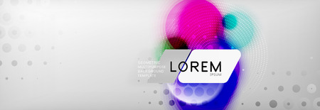 Illustration pour Background abstract - blurred dotted color circle shape, techno bubbles, vector illustration - image libre de droit