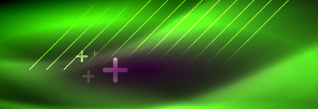 Ilustración de Shiny glowing lights neon color design background, vector - Imagen libre de derechos