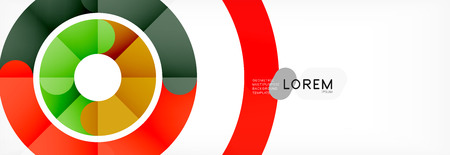 Illustration for Round linear circle shapes background vector illustration - Royalty Free Image
