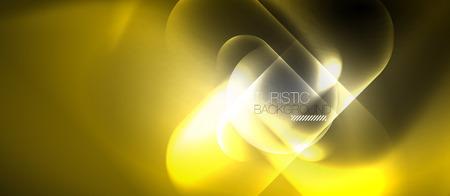 Illustration pour Neon glowing techno lines, hi-tech futuristic abstract background template - image libre de droit
