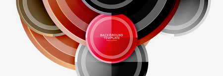 Illustration for Circular pattern, abstract circles composition - Royalty Free Image