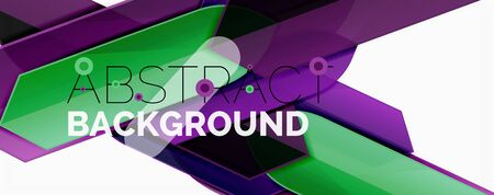 Illustration for Abstract color lines dynamic background, modern material design style - Royalty Free Image