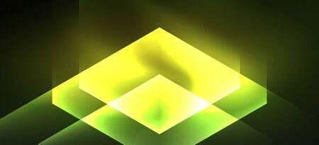 Illustration pour Vintage holographic shiny neon color light, great design for any purposes. Abstract magic motion background. Vintage cinema concept. Technology background. - image libre de droit